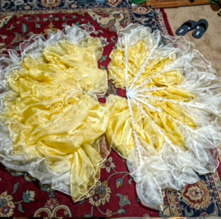 Contrast Staves in Organza